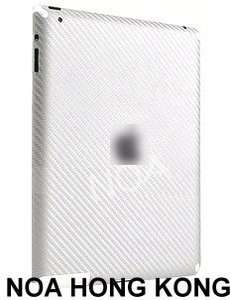 Carbon Fiber Full Body Front & Back Cover Wrap Skin Sticker For iPad 2