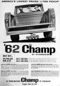 1962 Studebaker Champ Pickup Truck Original Ad