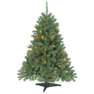 Trim a Home 4.5ft. Shenandoah Pine Christmas Tree with 200 Multi color