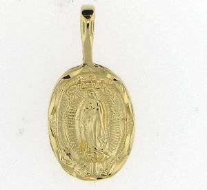 24K GOLD EP TRADITIONAL CHARM VIRGIN MARY MEDAL