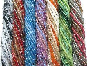 SEED BEAD MIX MULTI STRAND COLOR EFFECT SHAPE STYLE 10