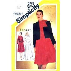 Simplicity 5192 Sewing Pattern Misses Adolfo Skirt Blouse