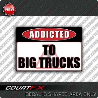 Big Truck 4x4 Warning Sticker Lift Skyjacker Decal