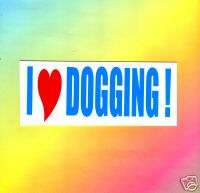 MAGNETIC FUNNY BUMPER STICKER,JOKE,PRANK,LAUGH  DOGGING
