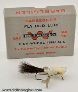 Thos E Wilson Basbegiler Fly Rod Lure in Rare Box Chicago