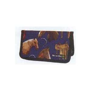 Broad Bay Cotton Saddle Horse Checkbook Cover