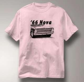 Chevy Nova 1966 Classic PINK Chevrolet Car A T Shirt XL