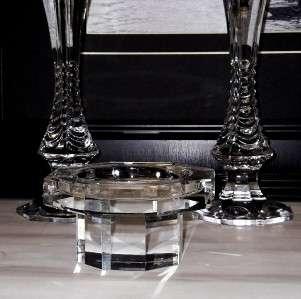 ELEGANT SOLID CRYSTAL GLASS Pillar CANDLE HOLDER,tea votive ROSENTHAL