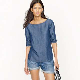 Chambray top   blouses   Womens shirts & tops   J.Crew
