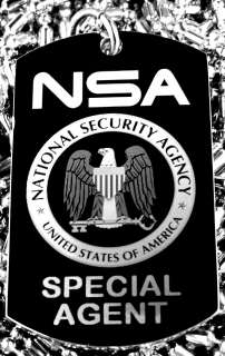 Service National Security Agency (NSA) Seal Dog Tag Necklace