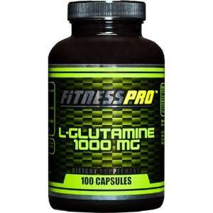 Fitness Pro Lab L glutamine Capsules, 1000 mg., 100 Count