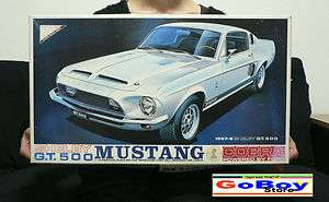 SHELBY GT500 MUSTANG COBRA 1/16 BIG MODEL KIT NICHIMO JAPAN FORD