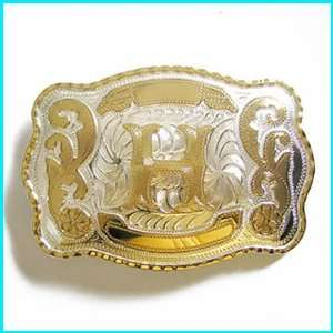 New Western English Letters H Belt Buckle WT 078H