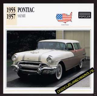 1955 1956 1957 PONTIAC SAFARI Station Wagon Car CARD