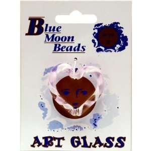 Blue Moon Glass Open Heart Pendant, 1/Pkg, Pink Arts