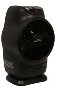 SFH613 LCD Electric Fan Forced Portable Heater Oscillation Black