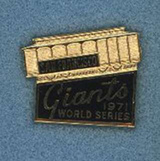 1971 San Fran GIANTS PHANTOM World Series Press Pin