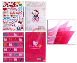 Sanrio Hello kitty Multipurpose File Holder / 3 Tab Poly Folder Set
