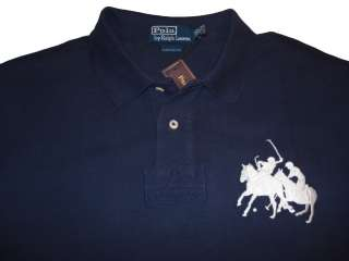 Polo Ralph Lauren Big Pony Game Match Blue Shirt XXL