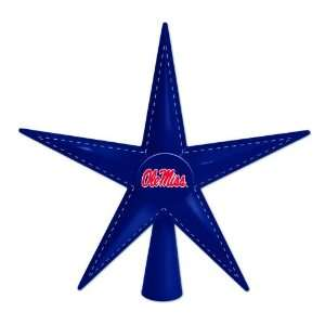 9.5 NCAA Mississippi Ole Miss Rebels Metal 5 Point Star