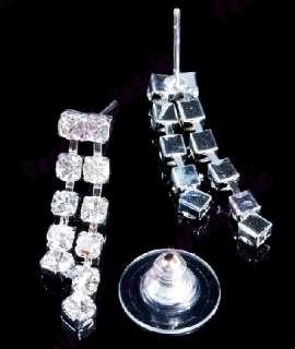 silver tone Czech rhinestone wedding necklace 6sets