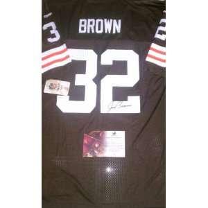 Jim Brown Signed Cleveland Browns Football Jersey