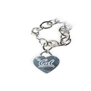 Cal Berkeley Golden Bears Tiffany Style Heart Tag Bracelet