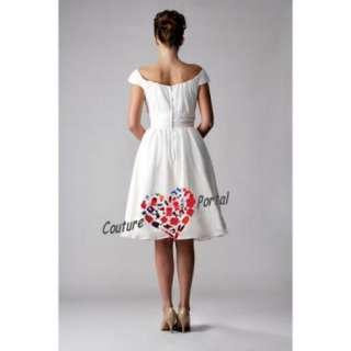 Princess Square Knee length Chiffon Wedding Dress