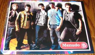 MENUDO Boy Band Teen Male Singers PINUP 8X10