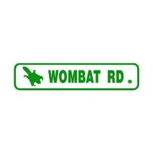 WOMBAT ROAD flying squirrel street sign Home & Kitchen