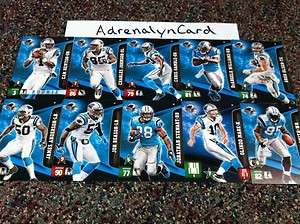 Carolina Panthers NFL Adrenalyn XL Complete Team Set (Special   Extra