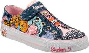 Girls SKECHERS Twinkle Toes Shuffles Wisdom Sneakers