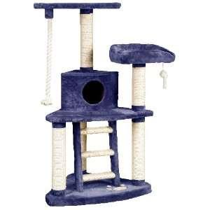 Whisker World Tri Level Cat Furniture Fun Center   Blue