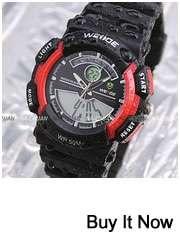 44MM WEIDE Black Sport Men Stainless Steel Wrist Watch