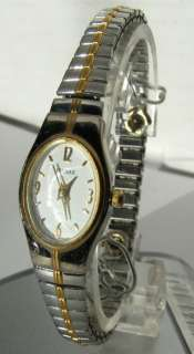 Pulsar womens two tone white dial quartz watch
