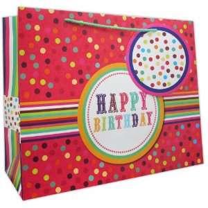 120 Pcs Premium Paper Gift Bags Bulk 14 x 17.5 x 7 (Birthday Button)