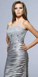 2011 Silver ablaze short Bridesmaid/Wedding/Prom Evening Dress size