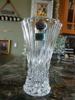 BEYER   BLEIKRISTALL CRYSTAL VASE WEST GERMANY