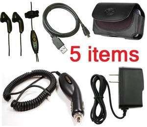ATT Pantech Link 2 Car+Home Charger+Headset+Case+USB Cable+Clip