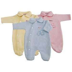BabyBow Baby Bow Snap Button Footie   Pink Baby