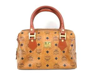 VINTAGE MCM MUNCHEN GERMANY MEDIUM SPEEDY BAG MONOGRAM HANDBAG