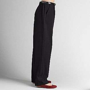 Womens Belted Flat Front Pants  Sag Harbor Clothing Womens Pants