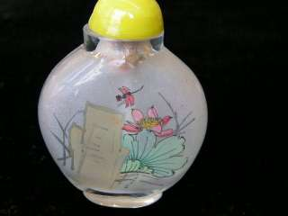 Antique Peking glass inside painted snuff bottle