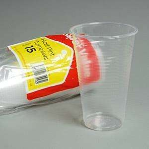 Super Value Pack Of 15 Clear 28Cl Half Pint Glasses