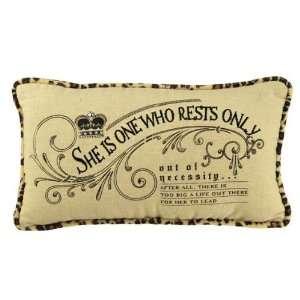 ! Animal Print Mini Throw Pillow   Assorted Sayings: Home & Kitchen