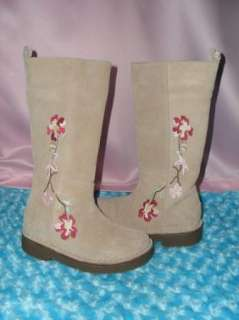 NEW GAP TALL TAN LEATHER BOHO BOOTS 11 GIRLS 28 RARE