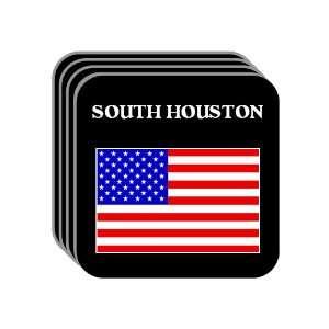 US Flag   South Houston, Texas (TX) Set of 4 Mini Mousepad