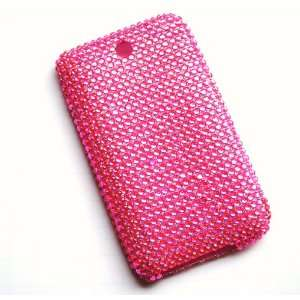 New Pink Soft Flexible Skin Sparkling Rhinestones Full
