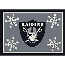 Oakland Raiders Holiday 3 Ft. 10 In. x 5 Ft. 4 In. Rug