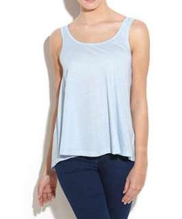 Pale Blue (Blue) Basic Dipped Hem Swing Vest  243957245  New Look